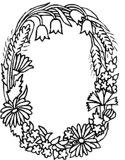 Ausmalbilder von Alphabet der Blumen