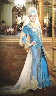 Baju pengantin muslim kebaya modis