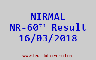 NIRMAL Lottery NR 60 Results 16-03-2018