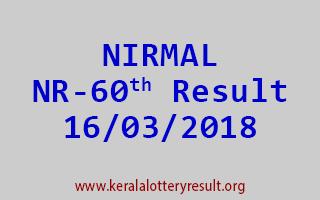 NIRMAL Lottery NR 60 Results 16-03-2018