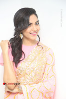 Actress Ritu Varma Pos in Beautiful Pink Anarkali Dress at at Keshava Movie Interview .COM 0343.JPG