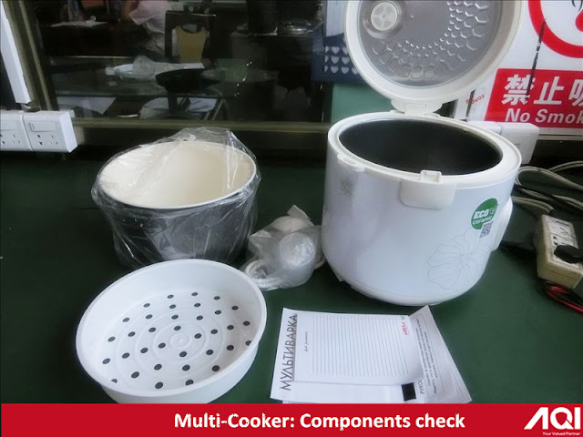 Common on site tests during multicooker final random quality inspection