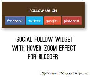 Social Follow Zoom effect