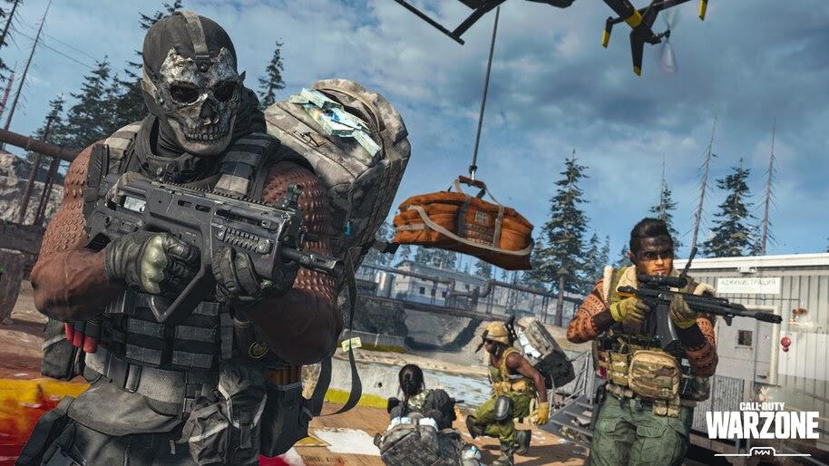 Call of Duty Warzone, Squad, Skull, Mask, 4K, #7.1345