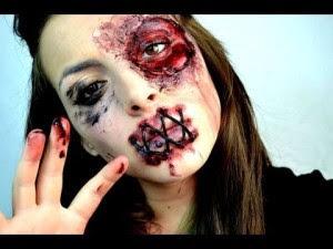 Zombie Halloween Makeup Girl 2016