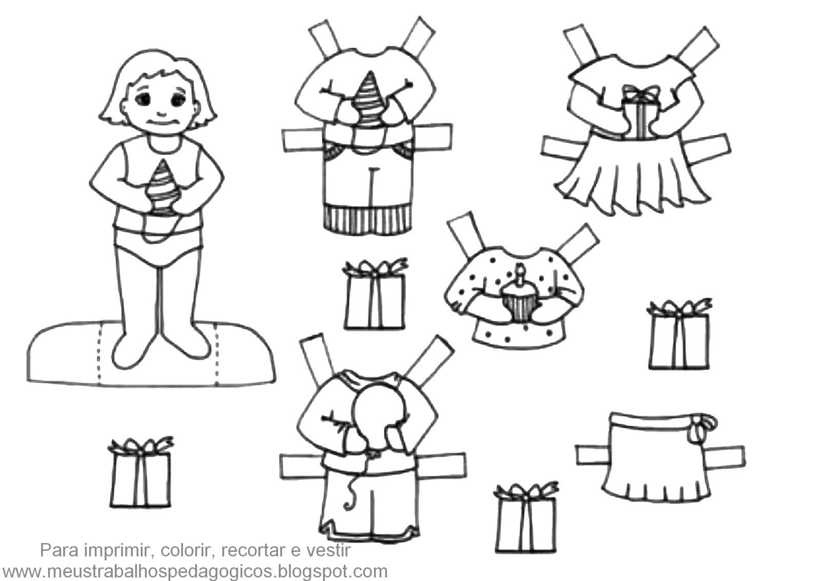 Meus Trabalhos Pedagogicos Algumas Bonecas E Roupinhas Para Vestir