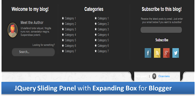jQuery sliding panel blogger, expanding jquery panel blogger