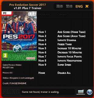 PES 2017 Plus 7 Trainer Tool V1.01