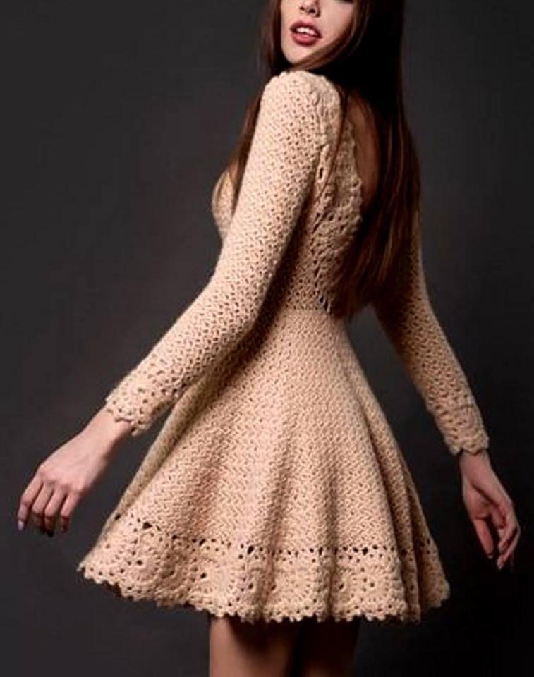 81e4245c4 Vestido em Crochê com Gráfico - Katia Ribeiro Crochê Moda e Decoração