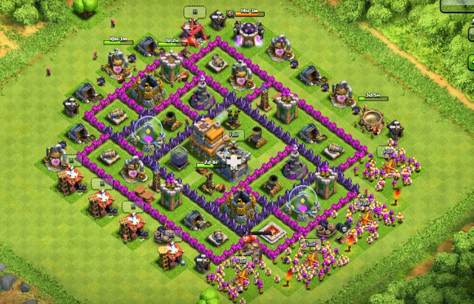 Clash Of Clans Clash Of Clans Best Defense Town Hall Level 7