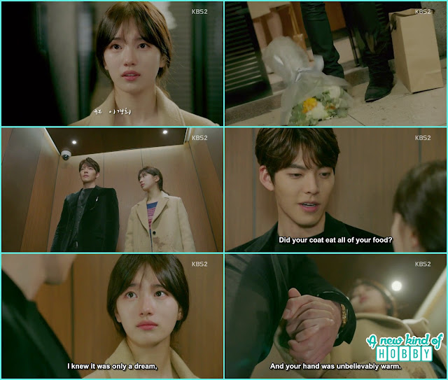 joon young grab YNoh Eul hand in the lift - Uncontrollably Fond - Episode 15 Review