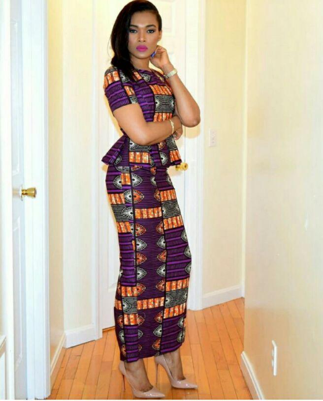 long ankara style and top
