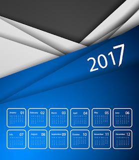2017カレンダー無料テンプレート200
