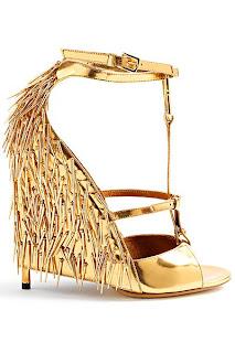 Püsküllü Lame Renkli Dolgu Topuk Ayakkabı Modeli