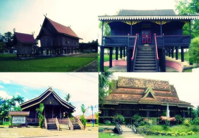 Rumah Panggung Kajang Leko Adat Provinsi Jambi