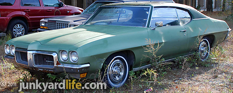Junkyard Life  Classic Cars  Muscle Cars  Barn finds  Hot rods and     Cars in Yards  1970 Pontiac LeMans coupe