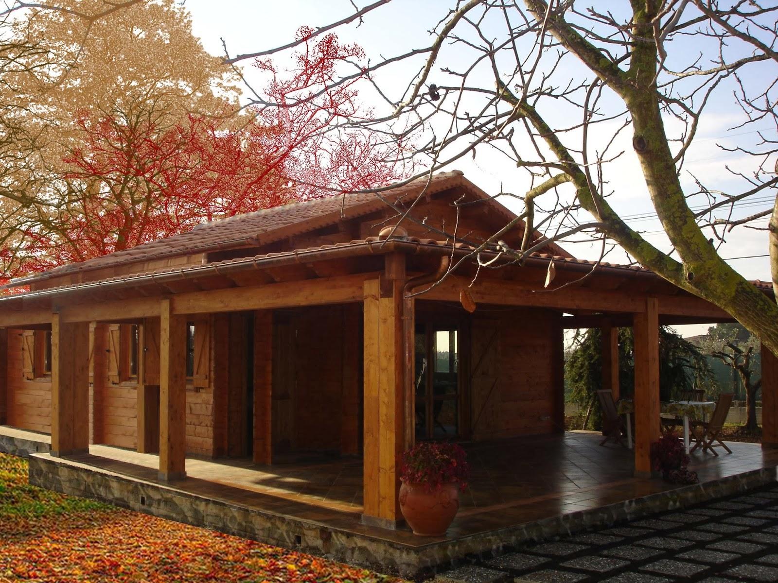 Progetti di case in legno casa blockhaus coibentata 62 mq for Ville con portico in legno