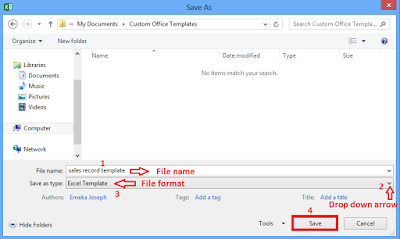 Select the file format and click save