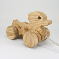 PA21, Wooden Pull along Duck, Lotes Toys