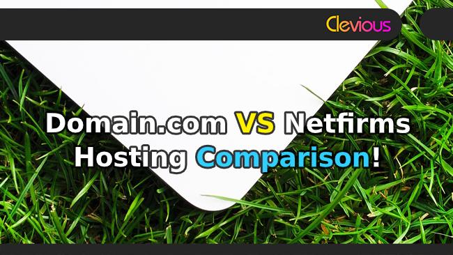 Domain.com VS Netfirms Hosting Comparison - Clevious