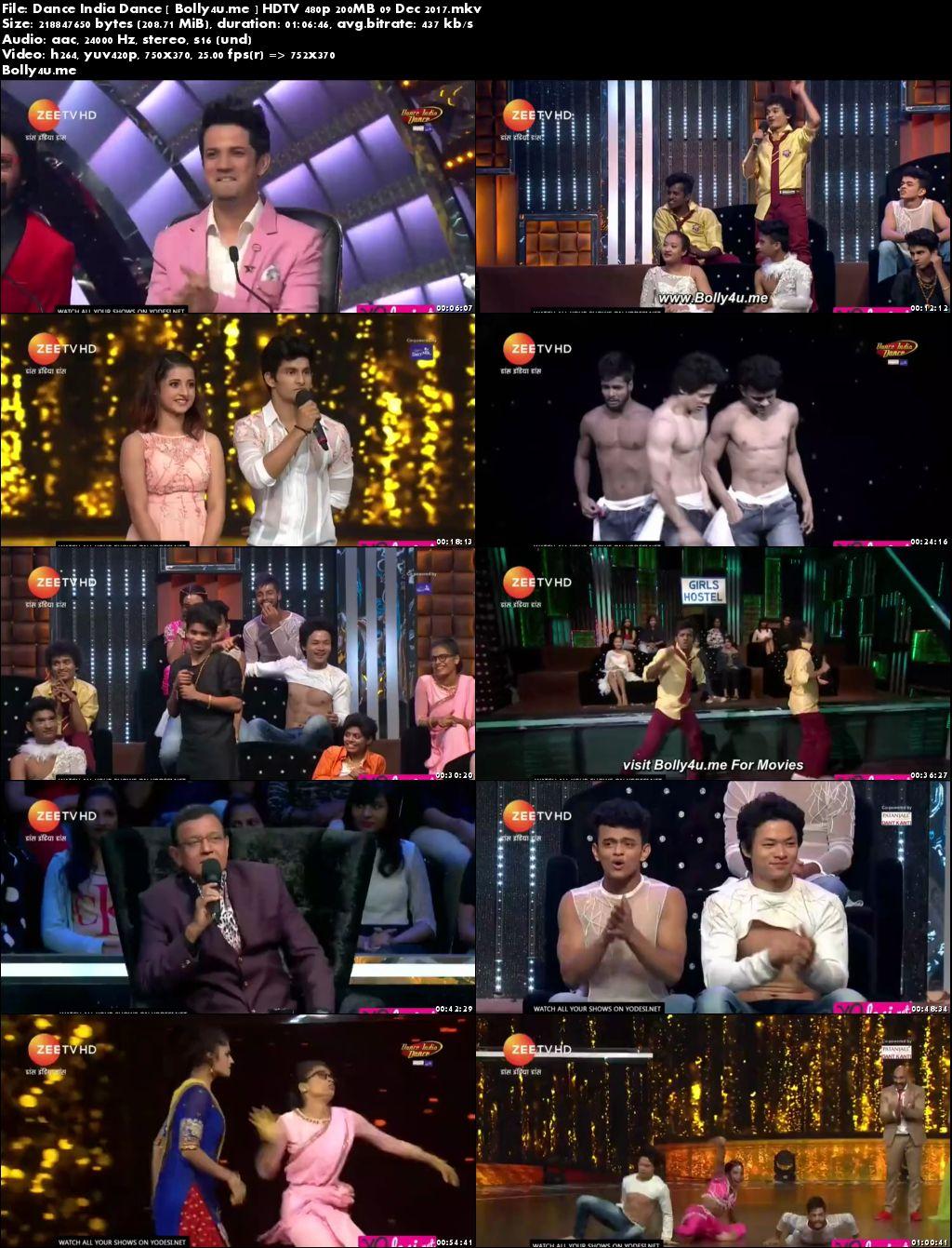 Dance India Dance HDTV 480p 200MB 09 Dec 2017 Download