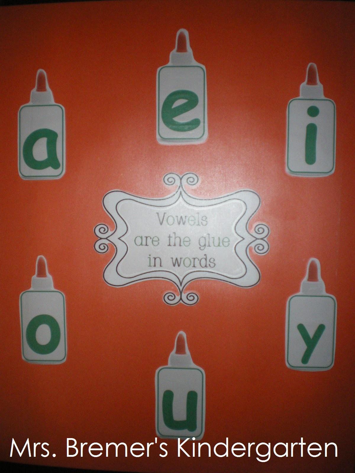 Mrs Bremer S Class Consonants Vowels Names Morning