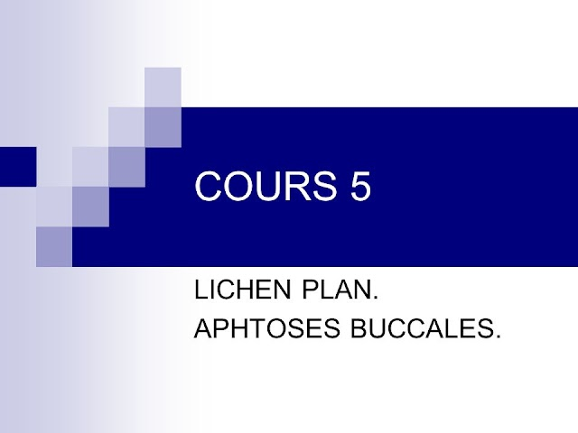 LICHEN PLAN. APHTOSES BUCCALES .pdf