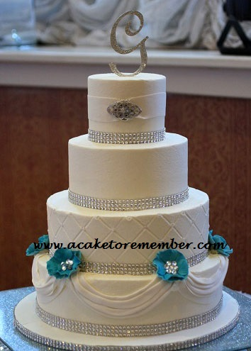 teal wedding cakes pictures teal flowers and sugar jewels wedding cake 20788