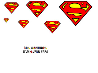 logo super hero à imprimer super papa fete des peres creation enfant