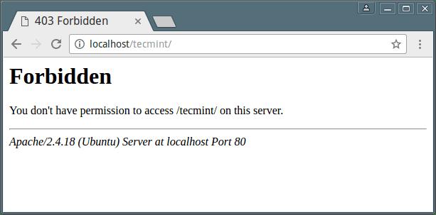 Cara Mengatasi Error Forbidden Pada Website di Linux Ubuntu