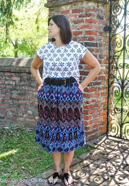 Catalina Dress Sewing Pattern by Blank Slate Patterns sewn as separates by Boy Oh Boy Oh Boy!