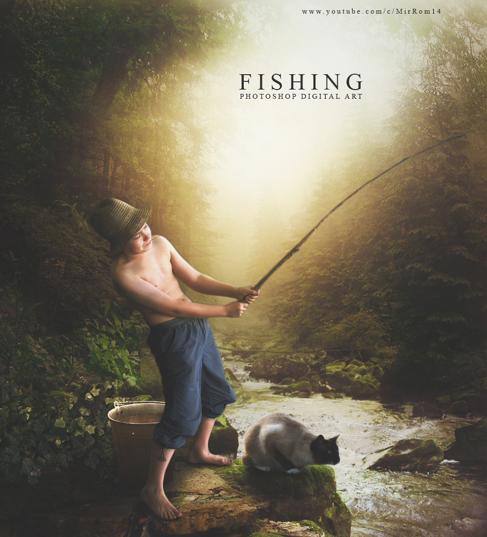 Create a Fishing Photo Manipulation Photoshop Tutorial