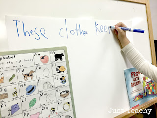 Winter Clothes Interactive Writing