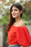 Rhea Chakraborty in Red Crop Top and Denim Shorts Spicy Pics ~  Exclusive 209.JPG