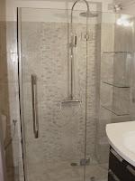 Καμπίνα μπάνιου με υδροφοβικό κρύσταλλο