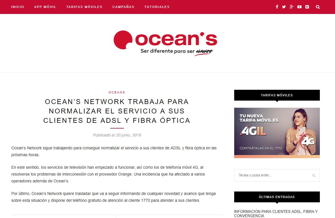 Telefónica desconectó de la red a Ocean's y ahora ofrece el servicio con Wialink.