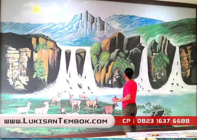 Lukisan 3D Tembok