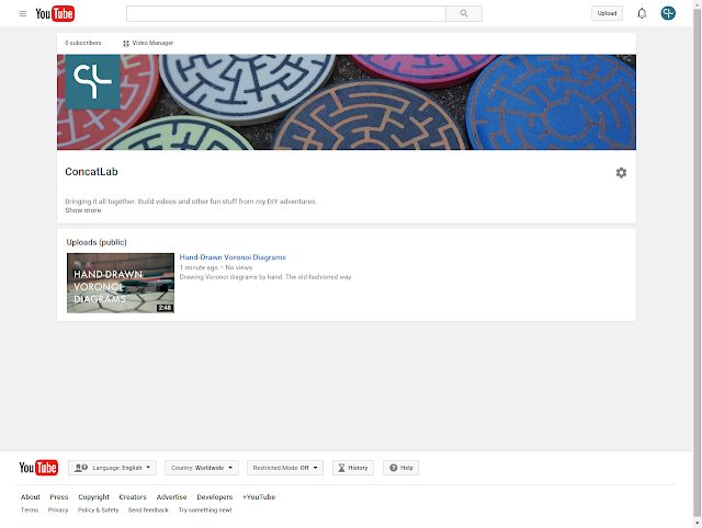 screen capture of ConcatLab YouTube channel homepage