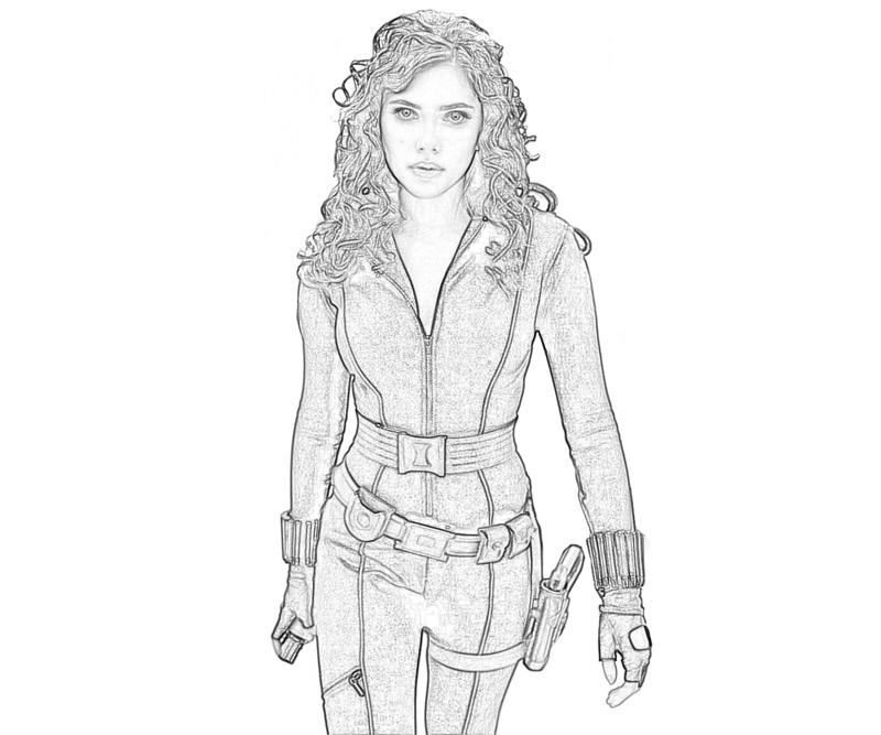 Iron man 2 black widow character mario for Black widow coloring page
