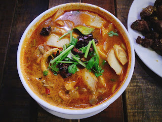 A bowl of way too spicy tomyum
