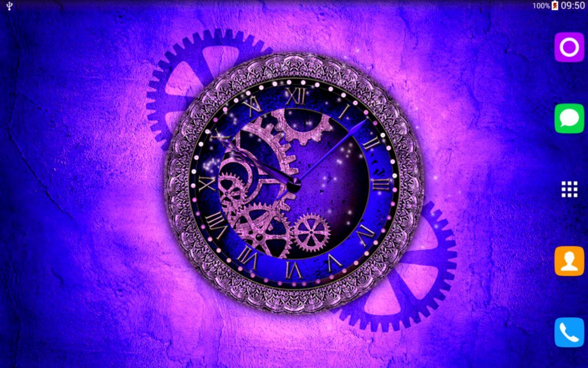 Purple Clock Wallpaper   All HD Wallpapers Gallery