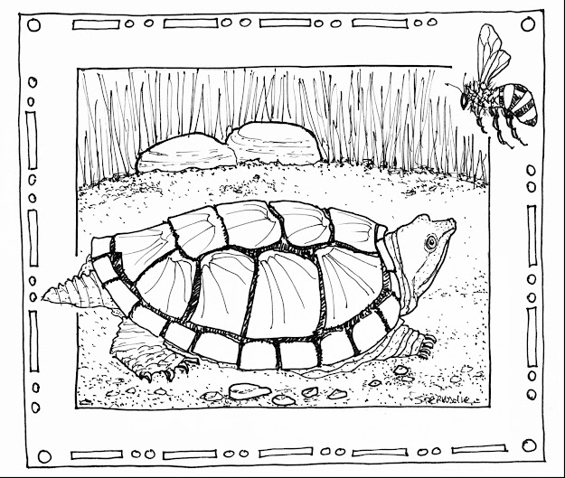 Awesome Snapping Turtle Coloring Pages With Nature Coloring Pages And Nature  Coloring Pages Pdf