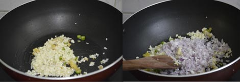 sauting onions and garlic
