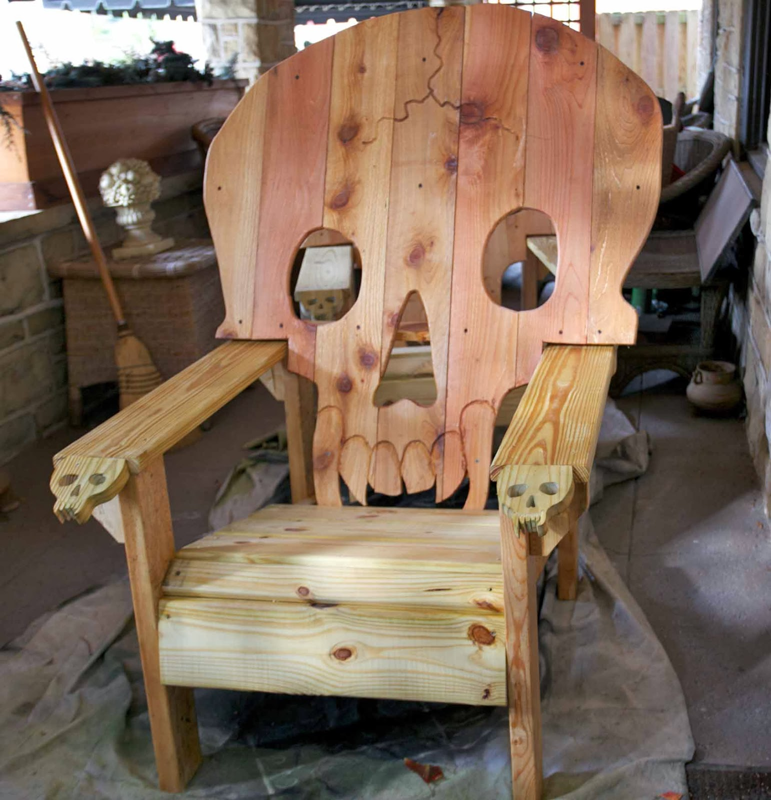 Skull Chair Cream Leather Office Chairs