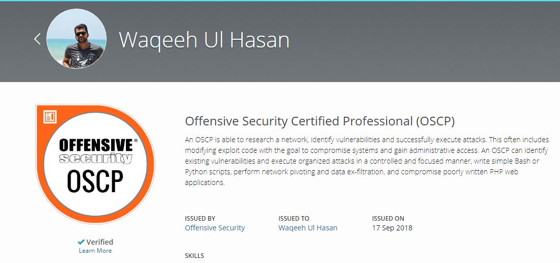 Alhamdulillah! OSCP Passed