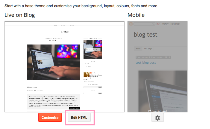 click edit html
