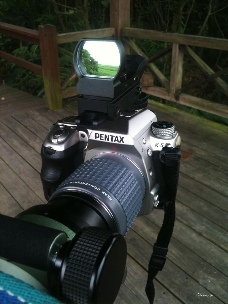 Pentax 75SDHF 使用相機加倍鏡(Teleconverter/negative projection)的擴大攝影