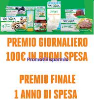 Logo ''Si a Valsoia e vinci '' : 150 carnet da 100€ in buoni spesa e 1 da 1.500€