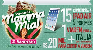 "Promoção ""Mamma Mia""  da Sanremo"