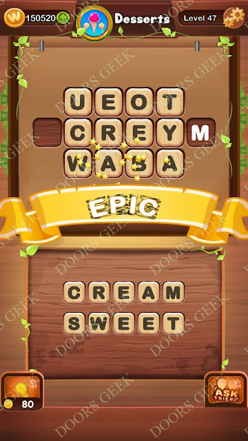 Word Bright Level 47 Answers, Cheats, Solutions, Walkthrough for android, iphone, ipad and ipod